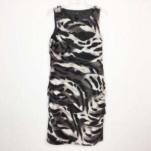 Ann Taylor Animal Print Tiered Sheath Dress